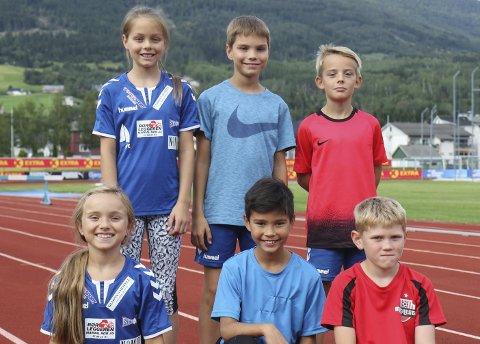 FÅR SJÅ HELTANE: Bak f.v.: Mathea Svalheim (11), Sondre Svalheim (11) og Christian Fjeldtvedt (11). Framme f.v.: Aurora Svalheim (9), Aron Grov Døskeland (snart 9), Kristoffer Brunsvik Rygg (snart 9).