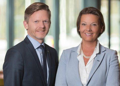 BEGGE SIER JA: Ingjerd Schou og Tage Pettersen har gitt nominasjonskomiteen beskjed om at de ønsker en ny periode på Stortinget. (Innsendt bilde)
