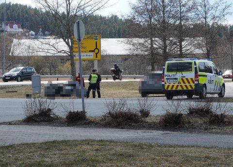 ULYKKE: En mc-fører skal være skadet etter en ulykke ved Neskollen lørdag ettermiddag.