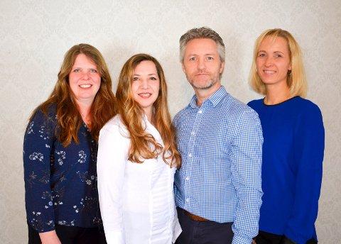 STYRET: Her er styret i den nye internasjonale skolen som planlegges i distriktet: Anne Lise Hansen, Heidi Jo Hannisdal, Agnar Hannisdal og Linda Thunshelle.