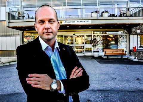 IKKE UVENTET: Sindre Martinsen-Evje, ordfører i Sarpsborg kommune, registrerer at kraftmarkedet har vært resultert i null utbytte til eierne.