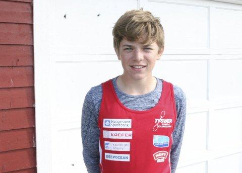 OGSÅ PÅ UNGDOMSLANDSLAGET: Nicolai Lønning ble sammen med Leander Helgesen og Sander Askeland tatt ut på det norske ungdomslandslaget.