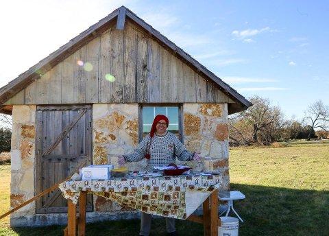 ENTUSIAST: Thomas Mannes under julemessen han og kona arrangerte på gården C.P. Farm i Texas i november i fjor.