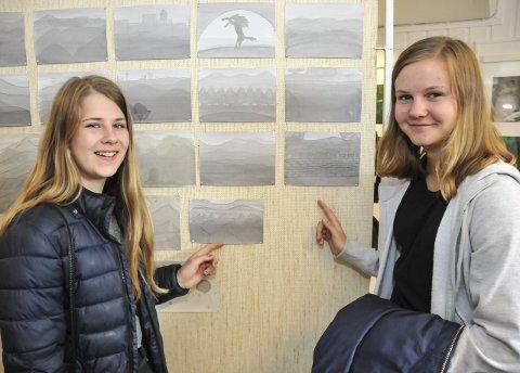Veteraner: Anne Dyrkorn Gregoriussen (til venstre) og venninnen Maja Hofstad Fredriksen har deltatt i flere utstillinger og synes det er moro. begge Foto: Per Eckholdt