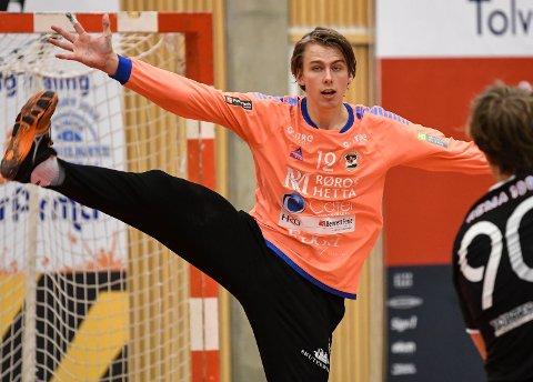 STORSPILTE: Keeper Eirik Varpe (19) ble kåret til SHKs beste i toppoppgjøret borte mot Nøtterøy.