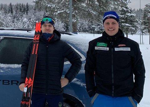 Brødrene skiskyting fra Lier IL: Det finnes flere brødrepar som hevder seg godt i skiskyting på høyt nivå, men Anders og Mats Øverby er av de få som er henholdsvis trener og utøver.