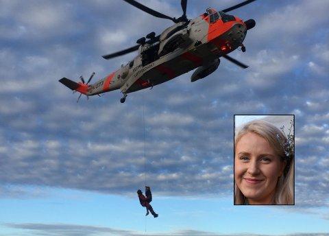22 år gamle Sylvia Helene Lind måtte berges ut av fjellet Mannen etter et anafylaktisk sjokk.
