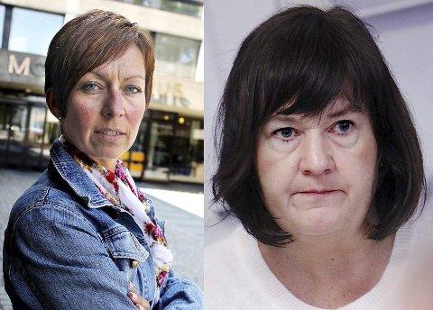 Hanne Tollerud (t.v) og Inger-Lise Skartlien, ordførere i hhv Moss og Rygge