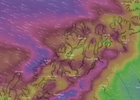 VIND: I Troms kan man forvente mye vind ut over torsdag kveld.