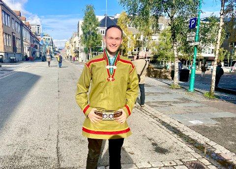 LISTETOPP: Runar Myrnes Balto er NSRs toppkandidat i Tromsø - kommunen med det største antallet samiske velgere i landet.