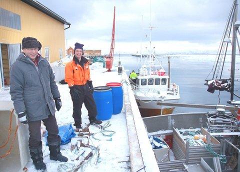 KYSTFISKERE: Arne Pedersen (t.v.) leder i Norges Kystfiskarlag, her med Lars Gøran Wickstrøm i Vestre Jakobselv.