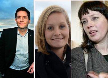 Kan få store gevinster: Daniel Skjeldam, Asta Lassessen og Anne Marit Bjørnflaten.