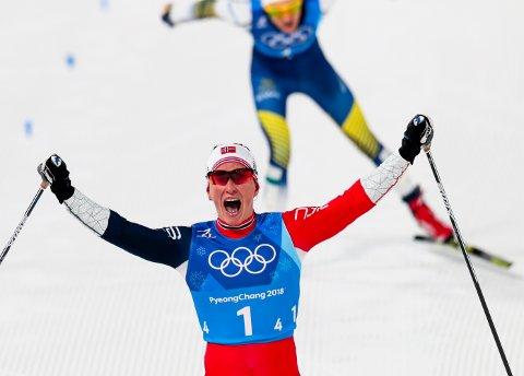 Marit Bjørgen sikret norsk seier under langrenn 4x5 km stafett kvinner i Alpensia Cross-Country Skiing Centre under vinter-OL i Pyeongchang.
