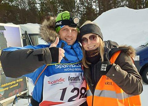 Jan Kåre Heiberg sammen med søster og handler Eirin Heiberg ettermålgang i alta.