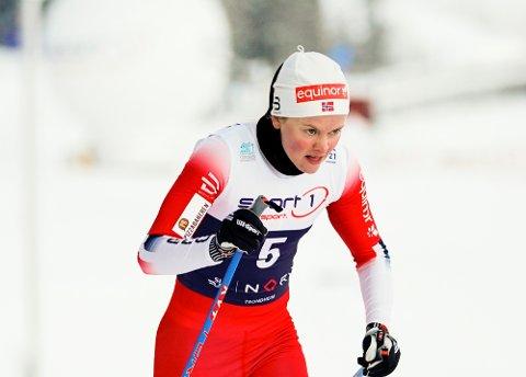 STYRKET VM-SJANSENE: Mathilde Skjærdalen Myhrvold slo to av sine argeste konkurrenter i kampen om VM-billett med fjerdeplass i NM.