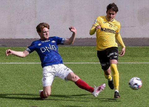 NESTEN: Sander Werni hadde to-tre store muligheter til å score mot gamleklubben Vålerenga uten å lykkes.