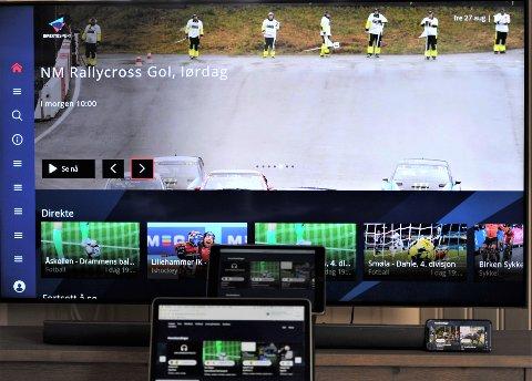 MANGE MULIGHETER: Helgens mange sendinger på OA-TV kan du se på mange smart-tv, mac, pc, nettbrett eller telefon.