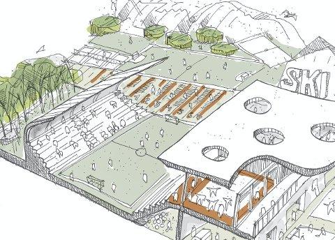 STADION: Dersom Ski IL Alliansen får det som de vil, kan Ski stadion bli seende slik ut.