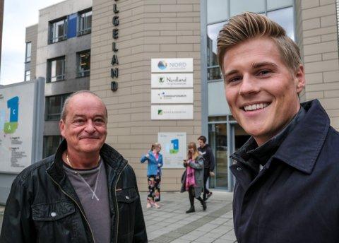 Jbf- tidligere Jernbanepersonalets - åpner bank og forsikring i Rana, i fjerde etasje på Campus. Der er rådgiver Rolf Martin Jensen på plass for å møte kundene, og Rune Solhaug er også på laget.