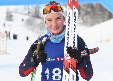 FORNØYD: Elisabeth Hartz Braathen fra Drolsum gledet seg over første- og andreplass i helgen.