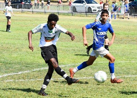 I skuddet: Benhur Kidane Girmay og de andre guttene på HBKs 15-årslag er i gang med Norway Cup.