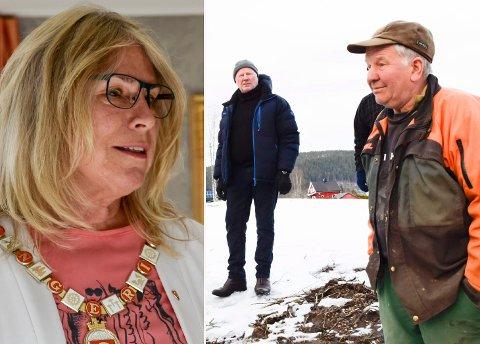 PRAT: Ordfører Kirsten Orebråten (Ap) inviterte Harald Fagerås (Sp) inn på en prat hos henne på rådhuset.