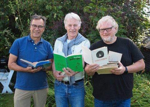 LYRIKERKONSERT: Per Vollestad, Svein Olav Blindheim og Fredrik Øie Jensen har hentet lokale lyrikere inn til konsert på Veien kulturminnepark.