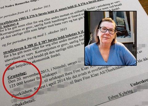 TILTALE: Onsdag ble det tatt ut tiltale mot ordfører Hilde Thorkildsen og en næringsdrivende fra Nittedal.