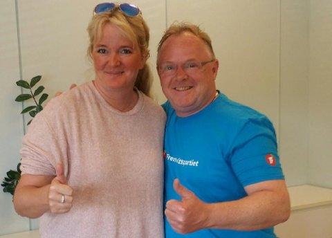 Frp: Anne Cathrine Vogt møtte Per Sandberg. Foto: Privat