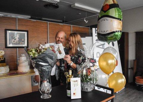 NYÅPNET: Øystien Trollsås og Ann-Kristin Hansen åpnet Festauranten i september i år.