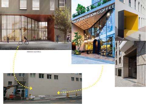 ELVEGATA: Inngangen til Amfi Vågen skal oppgraderes kraftig for å bli mer synlig i bybildet.