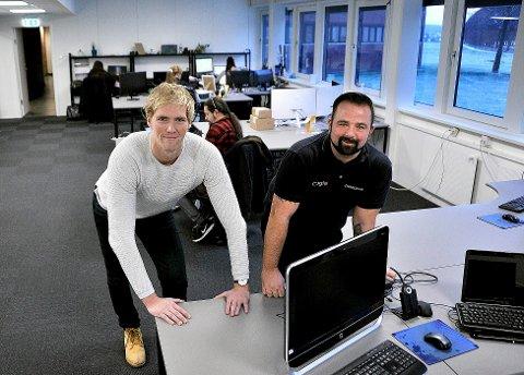 Verdi Media, tv. Thomas Skjelin og Lars Olsen.