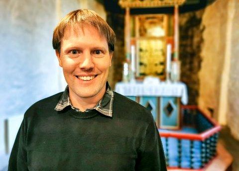 KANTOR: Ansgar Beste er ny organist i Hobøl og Tomter menighet.