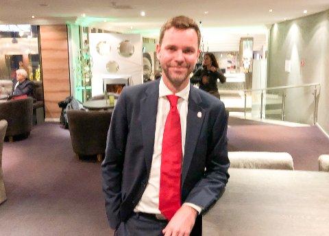 VALGT TIL LEDER: Truls Vasvik fra Larvik ble lørdag ettermidag valgt til ny leder av Vestfold og Telemark Arbeiderparti.