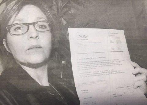20 år: Venke Midtlien vjl advare andre mot å betale regninger tiI Norsk Bedriftstøtte. -Jeg har aldiri hørt om og langt mindre bestilt plass i et næringslivsregister av dette firmaet, sier hun.