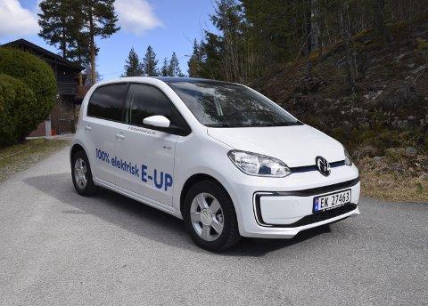 KOMMUNAL BIL: Notodden kommune velger Volkswagen E-up som ny bil i hjemmetjenesten. Bilene vil trolig settes inn i tjensten etter sommerferien. Autosenteret skal i føsrte omgang levere 20-25 elbiler.