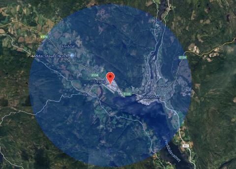 Med ifra: Innenfor denne sirkelen har du faktisk ikke lov til å fly drone uten å melde ifra til flyplassen.
