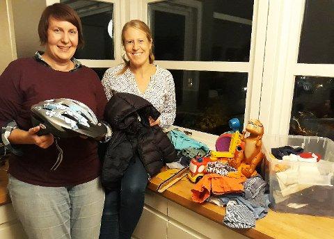 Tove Standnes-Ellstrøm og Nina Therese Blix inviterer alle Tønsbergs barnehageforeldre til byttekveld for barneklær- og -utstyr på Eik.