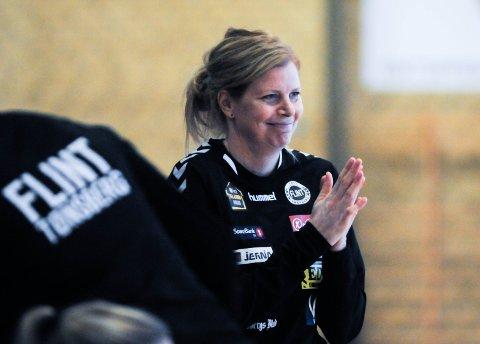 ÅRETS TRENER: Flint-trener Tonje Larsen er blant de nominerte til prisen som Årets trener under Vestfold Idrettsgalla 2019.