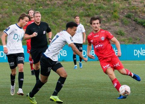 MÅLSCORER: Tobias Gran scoret FKTs eneste mål i kampen mot Ullern. Her fra kampen mot Vålerenga 2.