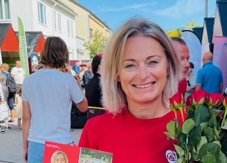GOD STEMNING: Det er god stemning i Ap for tiden, i følge tredjekandidat May Britt Lagesen. Hun kan havne på stortinget etter valget hvis Ingvild Kjerkol blir statsråd i ei ny rødgrønn regjering.