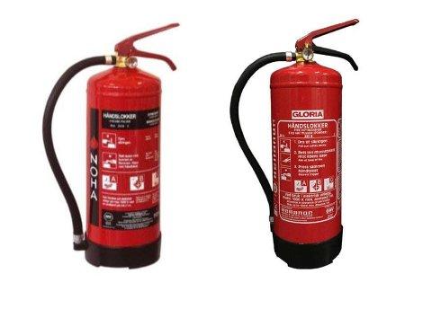 Begge apparatene har en teknisk feil som gjør at de ikke vil fungere til å slokke en brann, da slukkemiddelet ikke kommer ut av slangen.