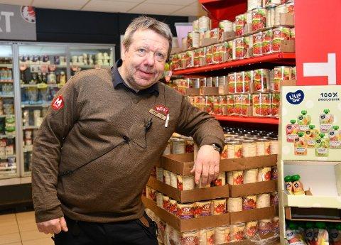 KVEITE: – Vi selger mye kveite om dagen, sier Per Arne Finstad hos Meny i Tangen Senter.