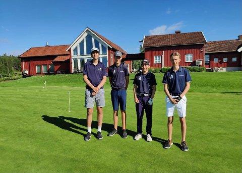 Arendals lag besto av f.v.: Jonathan Sauesund, Marcus Falk Bakken, Wullum Johannessen og Noah Pedersen.