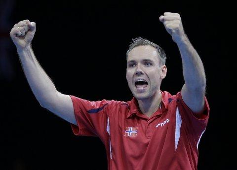 DRAUMEN: I 2012 vann Tommy Urhaug OL-gull i London. Denne gongen vart det tredjeplass i Malmø open.