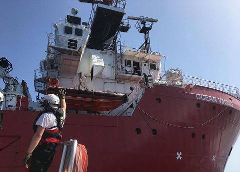 «Ocean Viking» har hjemmehavn i Bergen og er eid av Sotra-rederiet Høyland Offshore.