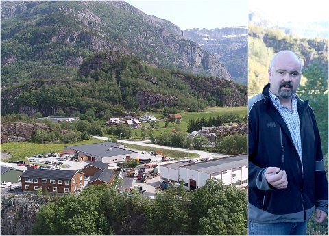 3. kanidat for Venstre i kommunevalet i år, Bjørgulf Myklebust, arbeider for å få eit busstopp Fv 614 ved industriområdet på Rise.