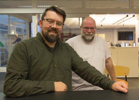 LEIER DEBATTEN: Bent Are Iversen og Ole Johannes Øvretveit leier debatten
