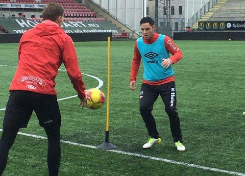PÅ TRENING: Her er Sivert Strangstad i aksjon på FFK-trening torsdag formiddag.