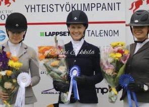 VANT: Vera Jacobsen, vinner av Arctic Tours Arctic Small Trophy. Andre og tredjeplassen ble sikret av to finske ryttere.